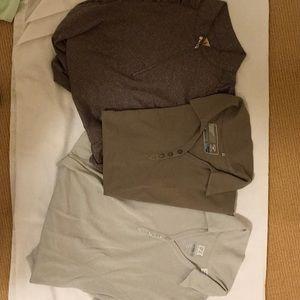 3 women's golf shirts- size med (Cutter& Buck)